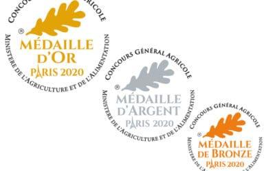 7 Médailles au Salon de l'agriculture 2020