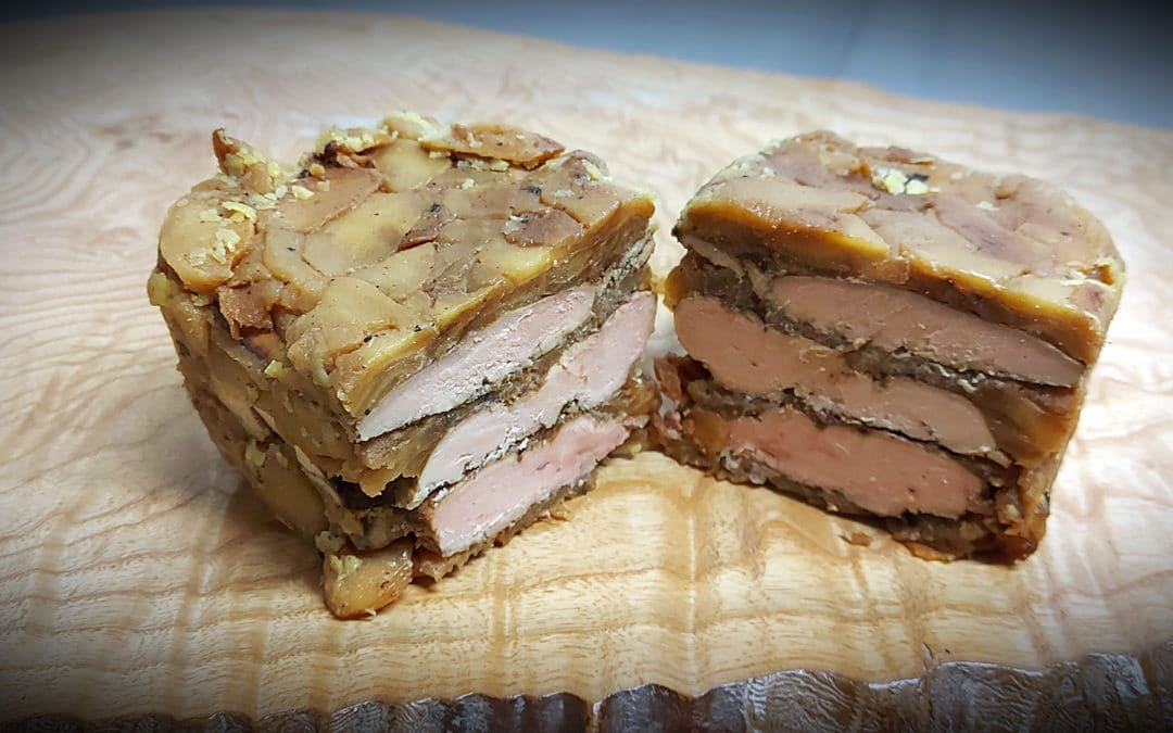 Terrine de foie gras poêlé aux pommes